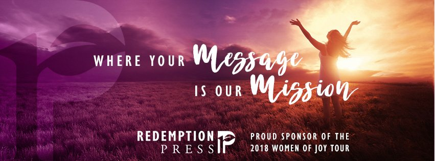 Redemption Press – Proud to Partner with the Women of Joy Tour 2018