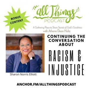 Sharon Norris Elliott on Racial Injustice – Bonus Content – Episode 37