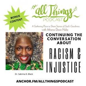 Crisis & Trauma Counselor Dr. Sabrina Black on Racial Injustice – Bonus Content – Episode 35