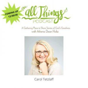 Redemption Press's Newest Team Member & Author Carol Tetzlaff