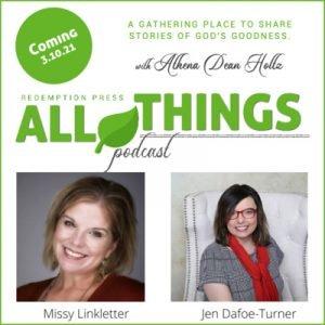 """New """"She Writes for Him: Stories of Living Hope"""" Authors Missy Linkletter and Jenn Dafoe-Turner share their Romans 8:28 stories"""