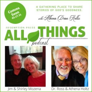 Redemption Press Authors, Husband and Wife Jim & Shirley Mozena share their Romans 8:28 Story of Loss and Remarriage
